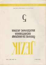 Jezik : Periodical for the Culture of the Standard Croatian Language,Vol. 36 No. 5