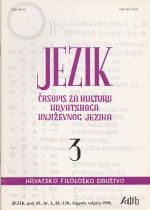 Jezik : Periodical for the Culture of the Standard Croatian Language,Vol.45 No.3