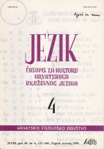 Jezik : Periodical for the Culture of the Standard Croatian Language,Vol. 45 No. 4