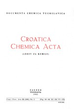 Croatica Chemica Acta,Vol. 33 No. 2
