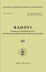 Radovi/Institute for Historical Sciences of the Croatian Academy of Sciences and Arts in Zadar : Institute for Historical Sciences of the Croatian Academy of Sciences and Arts in Zadar,No.60