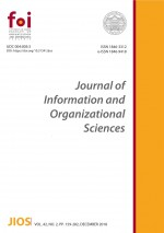 Journal of Information and Organizational Sciences,Vol. 42 No. 2