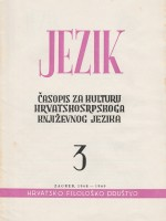 Jezik : Periodical for the Culture of the Standard Croatian Language,Vol. 16 No. 3