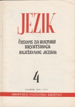 Jezik : Periodical for the Culture of the Standard Croatian Language,Vol. 16 No. 4
