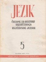 Jezik : Periodical for the Culture of the Standard Croatian Language,Vol. 17 No. 5