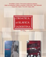 Croatica et Slavica Iadertina,Vol. 14/2 No. 14.