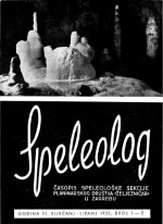 Speleolog,Vol. 3 No. 1-2