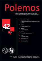 Polemos : Journal of Interdisciplinary Research on War and Peace,Vol. XXI No. 42