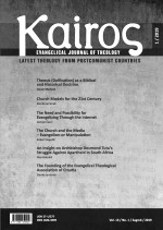 Kairos (English ed.) : Evangelical Journal of Theology,Vol. 13 No. 1