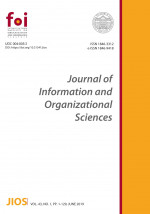 Journal of Information and Organizational Sciences,Vol. 43 No. 1