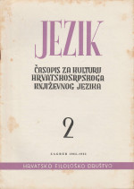 Jezik : Periodical for the Culture of the Standard Croatian Language,Vol. 10 No. 2