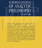 European Journal of Analytic Philosophy,Vol. 16 No. 1