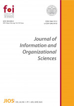Journal of Information and Organizational Sciences,Vol. 44 No. 1