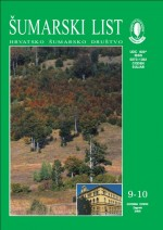 Journal of the Forestry Society of Croatia = Zeitschrift des Kroatischen Forstvereins = Revue de la Societe forestiere Croate,Vol. 132 No. 9-10