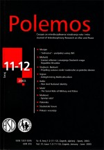 Polemos : Journal of Interdisciplinary Research on War and Peace,Vol. VI No. 11-12