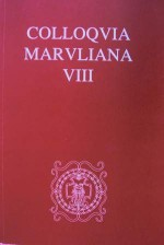 Colloquia Maruliana ...,Vol. 8