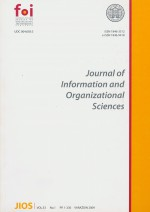Journal of Information and Organizational Sciences,Vol. 33 No. 1