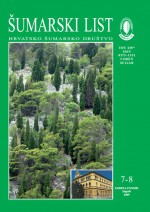 Journal of the Forestry Society of Croatia = Zeitschrift des Kroatischen Forstvereins = Revue de la Societe forestiere Croate,Vol. 133 No. 7-8