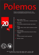 Polemos : Journal of Interdisciplinary Research on War and Peace,Vol. X No. 20