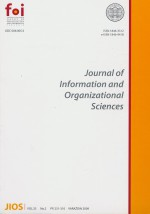 Journal of Information and Organizational Sciences,Vol. 33 No. 2