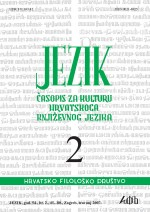 Jezik : Periodical for the Culture of the Standard Croatian Language,Vol. 54 No. 2
