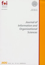 Journal of Information and Organizational Sciences,Vol. 34 No. 1