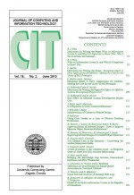 Journal of computing and information technology,Vol.18 No.2