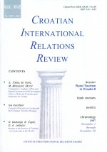 Croatian International Relations Review,Vol. 16 No. 58/59
