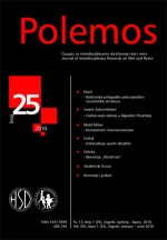 Polemos : Journal of Interdisciplinary Research on War and Peace,Vol. XIII No. 25