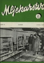 Mljekarstvo : journal for dairy production and processing improvement,Vol. 9 No. 6