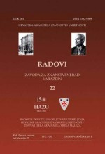Papers of the Institute for Scientific Research Work in Varaždin,No. 22