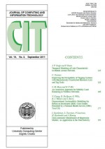 Journal of computing and information technology,Vol.19 No.3