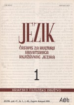 Jezik : Periodical for the Culture of the Standard Croatian Language,Vol. 47 No. 1