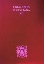 Colloquia Maruliana,Vol.12