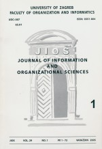 Journal of Information and Organizational Sciences,Vol. 29 No. 1