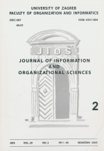 Journal of Information and Organizational Sciences,Vol. 29 No. 2