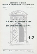 Journal of Information and Organizational Sciences,Vol. 28 No. 1-2