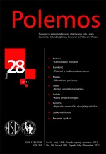 Polemos : Journal of Interdisciplinary Research on War and Peace,Vol. XIV No. 28