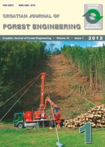 Croatian Journal of Forest Engineering : Journal for Theory and Application of Forestry Engineering,Vol. 33 No. 1
