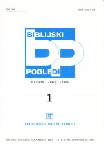 Biblijski pogledi,Vol. 1 No. 1