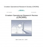 Croatian Operational Research Review,Vol.1 No.1