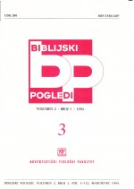 Biblijski pogledi,Vol.2 No.1