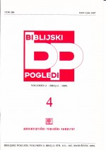 Biblijski pogledi,Vol.2 No.2