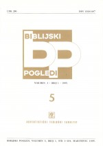 Biblijski pogledi,Vol. 3 No. 1