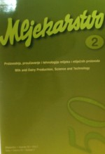 Mljekarstvo : journal for dairy production and processing improvement,Vol. 50 No. 2