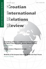 Croatian International Relations Review,Vol. 18 No. 67