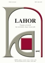 LAHOR : journal for Croatian as mother, second and foreign lanugage,Vol. 1 No. 1