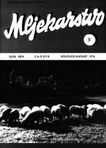 Mljekarstvo : journal for dairy production and processing improvement,Vol. 24 No. 8
