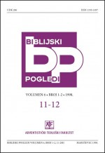 Biblijski pogledi,Vol.6 No.1-2