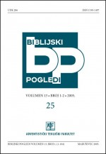 Biblijski pogledi,Vol.13 No.1